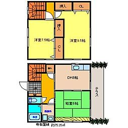 [一戸建] 福岡県八女市大籠 の賃貸【/】の間取り