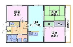 ルミエール円山Sブロック[102号室]の間取り