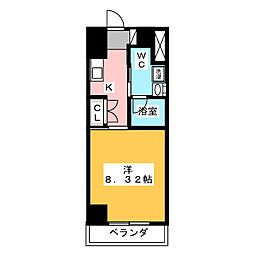 フローラ供米田[3階]の間取り