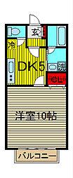 埼玉県さいたま市桜区道場1-の賃貸アパートの間取り