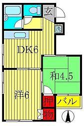 レジデンシャルASAHI[302号室]の間取り