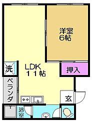 新和マンション[3階]の間取り
