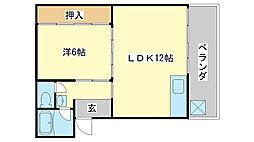 大森第2ビル[3east号室]の間取り