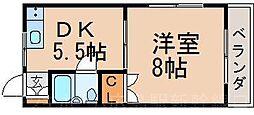 広島県広島市東区中山西1丁目の賃貸マンションの間取り