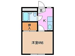 パビリオン松阪[1階]の間取り