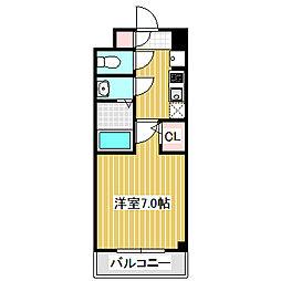 愛知県名古屋市中村区太閤通6丁目の賃貸マンションの間取り