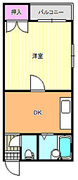 駒川駅前ビル[5階]の間取り