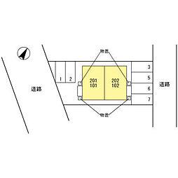 (仮)D-room大桑[201号室]の外観