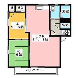 ヴィラージュ松倉 C棟[1階]の間取り