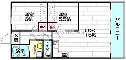 百番館[2階]の間取り