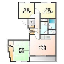 北海道札幌市東区北三十三条東6丁目の賃貸マンションの間取り