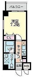 BLDG(ビルディング)110 1階1Kの間取り