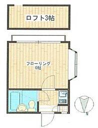 カームハウス高幡[2階]の間取り