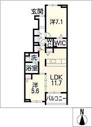 アロッジオ M III[1階]の間取り