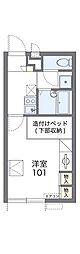 南海高野線 北野田駅 徒歩14分の賃貸アパート 2階1Kの間取り