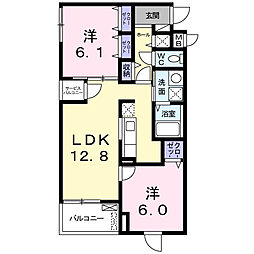 美園東3丁目マンション[2階]の間取り