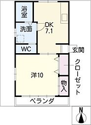 砂田橋5丁目住宅[2階]の間取り