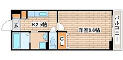 兵庫県三木市緑が丘町本町1丁目の賃貸アパートの間取り