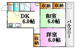 広島県広島市中区広瀬町の賃貸マンションの間取り