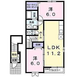 マ・メゾンII[2階]の間取り