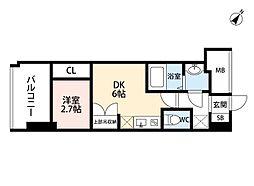 セレニテ福島scelto(シェルト) 3階1DKの間取り