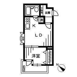 CLUB LANAI MEDITERRANEAN 1階[1階]の間取り