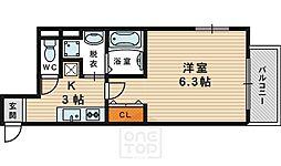 ヒルズ桜宮[1階]の間取り
