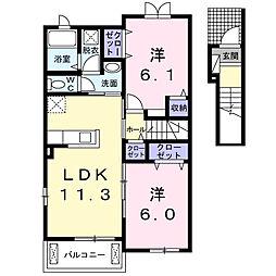 サンリットガーデン[2階]の間取り