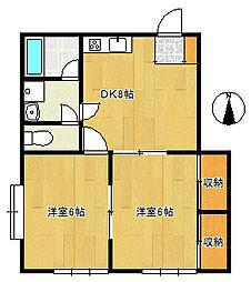 EYApartment[2階]の間取り