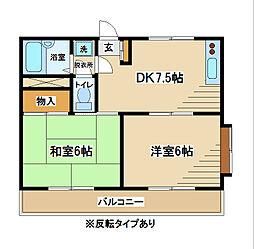 東京都府中市南町3丁目の賃貸マンションの間取り