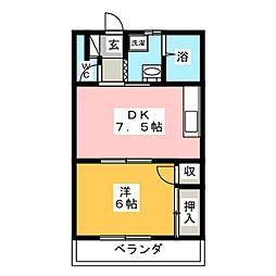 松井コーポ[2階]の間取り