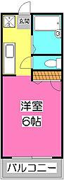 サンアベニュー富士[2階]の間取り