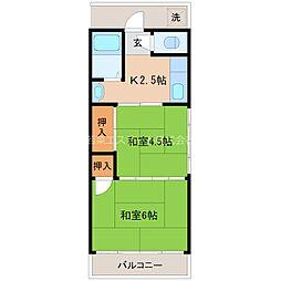 宮永荘[2階]の間取り