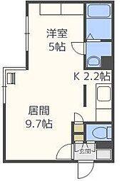 北海道札幌市東区北九条東1丁目の賃貸マンションの間取り