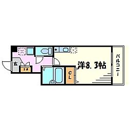 兵庫県西宮市戸田町の賃貸マンションの間取り
