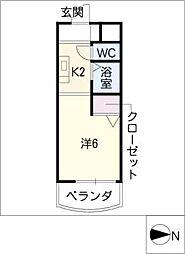 メゾン シルク[4階]の間取り