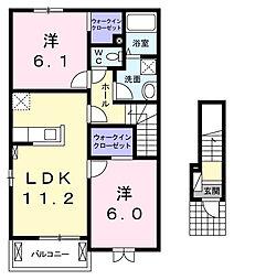 すみれガーデン[2階]の間取り