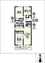 ハウスメイ[2階]の間取り