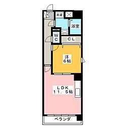 愛知県名古屋市港区十一屋2丁目の賃貸マンションの間取り