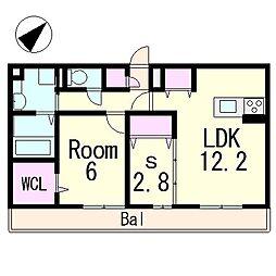 (仮称)D-room青地町ハイツ[2階]の間取り