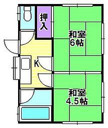 たつみコーポ[2階]の間取り