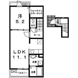 グラシオ成瀬[2階]の間取り