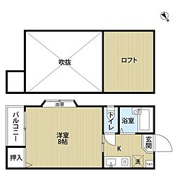 アバター博多駅東[203号室]の間取り
