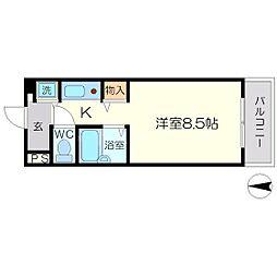 フォンテンブロー[2階]の間取り
