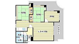 伽屋町マンション[4-A号室]の間取り