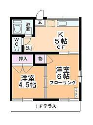 岸田荘[1階]の間取り