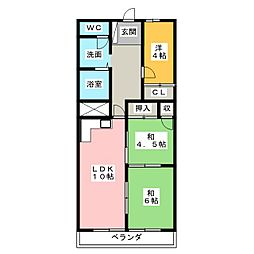 ホーユウパレス高崎南[2階]の間取り