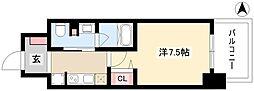 パークアクシス名古屋山王橋 11階1Kの間取り