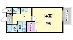 兵庫県神戸市兵庫区荒田町1丁目の賃貸アパートの間取り