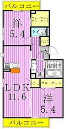 コート青井[2階]の間取り